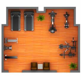 豪华家庭健身房器材设备配置解决方案