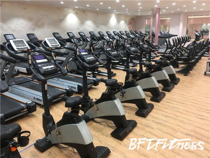 沙特客户女子健身房立式健身车